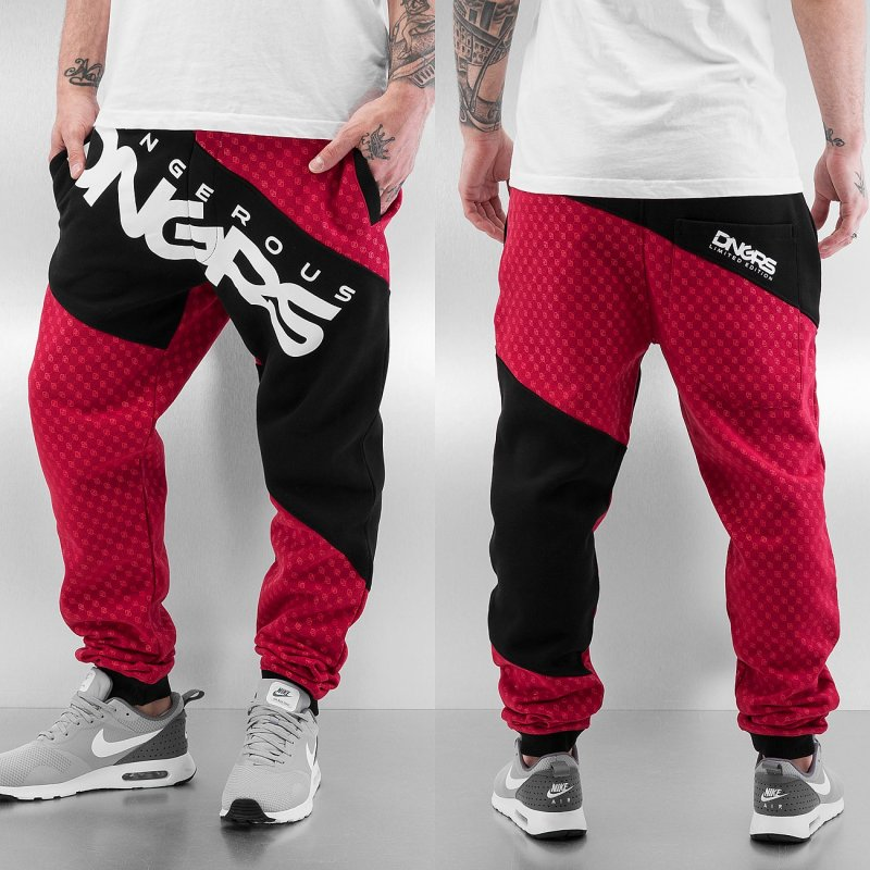 Dangerous tepláky Pant Toco red - 314438